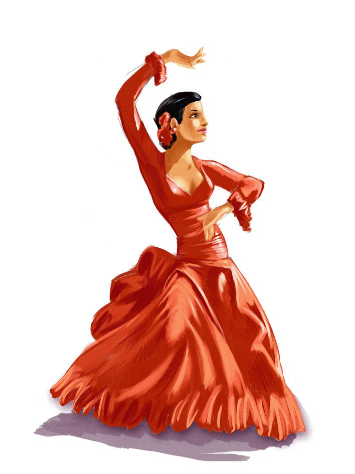 Comment dessiner une danseuse espagnole flamenco - Dessiner une danseuse ...